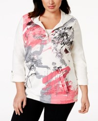 Styleandco. Style And Co. Sport Plus Size Half Zip Printed Hoodie Only At Macy's