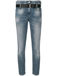 Rta Cropped Tapered Jeans Blue