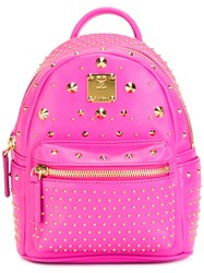 Mcm Mini Stark Special Backpack Pink Purple