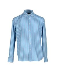 Mp Massimo Piombo Shirts Shirts Men Turquoise