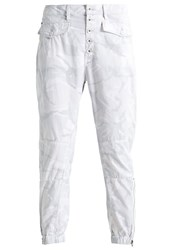 G Star Gstar Army Zip Tapered Relaxed Fit Jeans White Light Grey
