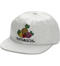 Gcds Fruits Of The Satin Snapback Cap White