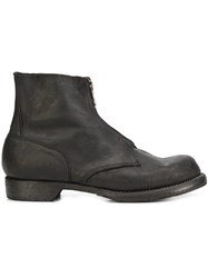 Guidi Zipped Military Boots Black