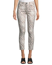 7 For All Mankind Printed Ankle Skinny Jeans Multi Pattern