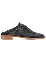 Robert Clergerie Jaly Brogue Mules Blue
