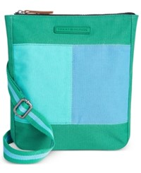 Tommy Hilfiger Flag Colorblock Flat Crossbody Kelly Green