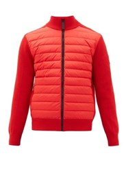 Canada Goose Hybridge Quilted Down Bomber Jacket Red