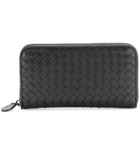 Bottega Veneta Intrecciato Leather Wallet Black