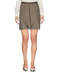 Rick Owens Lilies Mini Skirts Grey