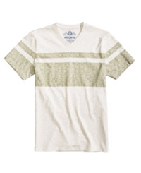American Rag Men's Double Stripe V Neck T Shirt Created For Macy's Oat Heather
