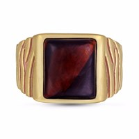 Lmj Chatoyant Red Tiger Eye Stone Ring