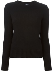 Jil Sander Navy Crew Neck Sweater Black