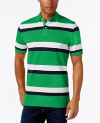 Tommy Hilfiger Men's Ace Striped Polo Medium Green