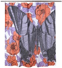 Thomas Paul Butterfly Bloomsbury Shower Curtain