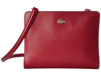 Lacoste Chantaco Crossover Bag Chili Pepper Cross Body Handbags Red