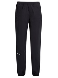 Balenciaga Logo Embroidered Lightweight Track Pants Navy