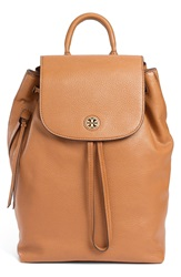 Tory Burch 'Brody' Leather Drawstring Backpack Bark