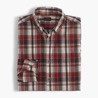 J.Crew Lightweight Cotton Shirt In Red Plaid Aztec Brick