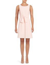 Adrianna Papell Sleeveless Fit And Flare Dress Cameo