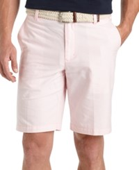 Izod Flat Front Oxford Solid Shorts