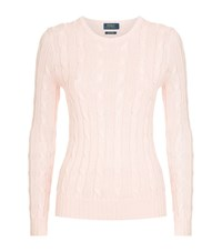 Polo Ralph Lauren Julianna Cable Knit Sweater Female Pink
