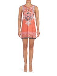 Minkpink Gone Wild Printed Boatneck Dress Red Multi