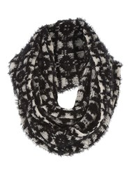 Jane Norman Black Mono Eyelash Snood Scarf