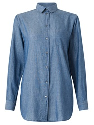 Jigsaw Chambray Shirt Blue
