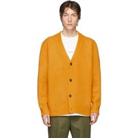 Acne Studios Orange Cashmere Kabelo Cardigan