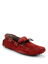 Ted Baker Ransvik Suede Loafers Red