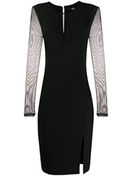 Karl Lagerfeld Mesh Panel Fitted Dress 60