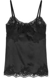 Dolce And Gabbana Stretch Silk Blend Satin And Lace Camisole
