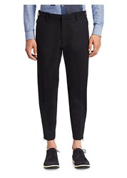 Emporio Armani Wool Side Zip Pants Black