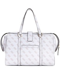 Guess Joslyn Medium Signature Satchel White