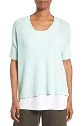 Eileen Fisher Women's Slubbed Organic Linen And Cotton Top