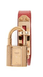 Wgaca What Goes Around Comes Around 9Mm Hermes Kelly Watch Red Gold