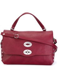 Zanellato Stud Detail Tote Red