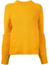 Le Ciel Bleu Balloon Sleeve Jumper Yellow Orange