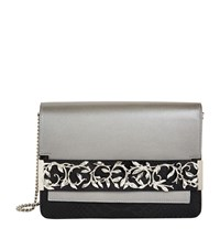 Ralph And Russo Snakeskin Eden Clutch Female Grey