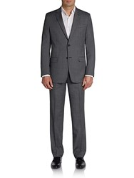 Versace Neat Dots Wool Blend Suit Med Grey