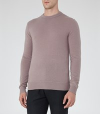 Reiss Hamilton Mens Cashmere Crew Neck Jumper In Pink