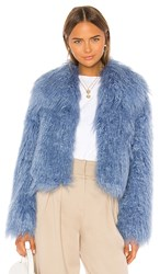 Unreal Fur Passages Jacket In Blue. Cosmic Blue