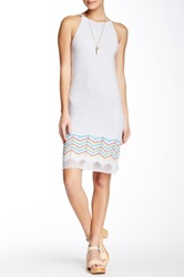 Autumn Cashmere Crochet Hem Halter Dress White
