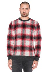 Scotch And Soda Lightweight Crewneck Pullover Brushed Quality Red