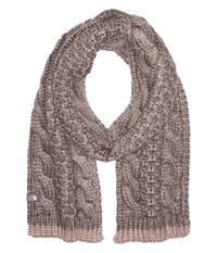 The North Face Cable Minna Scarf Rabbit Grey Scarves Gray