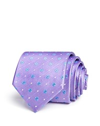Bloomingdale's The Men's Store At Floret Dot Neat Classic Tie 100 Exclusive Purple