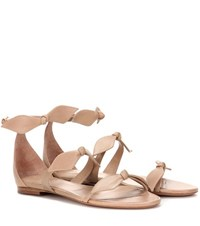 Chloe Leather Sandals Beige