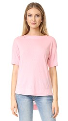 Three Dots Slub Tuxedo Tee Twilight Pink