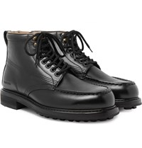 Tom Ford Cromwell Leather Hiking Boots Black