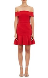 N Nicholas Women's Ponte Off The Shoulder Dress Red